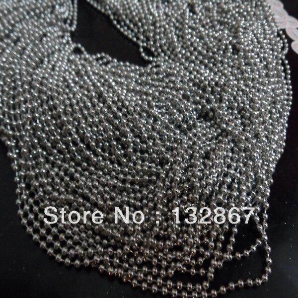Großhandel 50 meter 1,6mm edelstahl dünne ball perlen ketten. DIY schmucksachen Blei und Nickel Frei-in Schmuckzubehör & Komponenten aus Schmuck und Accessoires bei  Gruppe 1