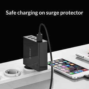 Image 5 - ORICO DCW 4U 4 Ports Wall USB Phone Charger 5V2.4A*4 6A30W Total Output Mobile Phone Travel Charger For Smartphone