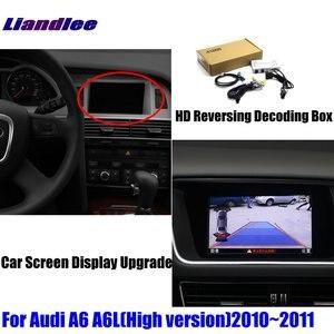 Image 2 - Actualización de pantalla de coche para Audi A6 A6L 2008 2009 2010 HD, decodificador de pantalla, reproductor, imagen de cámara de estacionamiento trasera y inversa