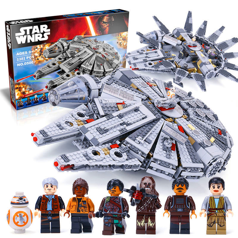 LEPIN 05007 New Star Set Wars Millennium Falcon Toys Educational building blocks marvel Kids Toy Compatible legoed 10467 ynynoo star wars bb8 droid 3d bulbing light toys 2016 new 7 color changing visual illusion led lamp yoda millennium falcon toy
