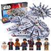 LEPIN 05007 New Star Set Wars Millennium Falcon Toys Educational Building Blocks Marvel Kids Toy Compatible
