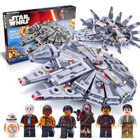 LEPIN 05007 New Star Set Wars Millennium Falcon Toys Educational Building Blocks Marvel Kids Toy Compatible
