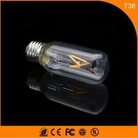 50PCS 2W E27 B22 Led Bulb, T38 LED COB Vintage Edison Light ,Filament Light Retro Bulb AC 220V
