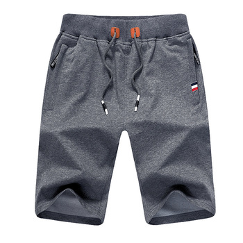 2019 Men Shorts Summer Solid Mens Casual Shorts Beach Boardshorts Slim Cotton Male Homme Short Trousers Brand Bermuda Masculina 1