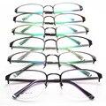Restaurar Antigas Formas Homens E Mulheres Óculos de moda de Nova Padrão Fundo Exceder Vai Óculos Meia Armação de Metal Armação de óculos de Miopia