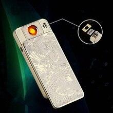 De Calidad superior Nuevo Diseño de reemplazo Gratuito Hombres Electrónicos de Cigarrillos Más Ligero de Carga USB Más Ligero Usado durante mucho time-F1