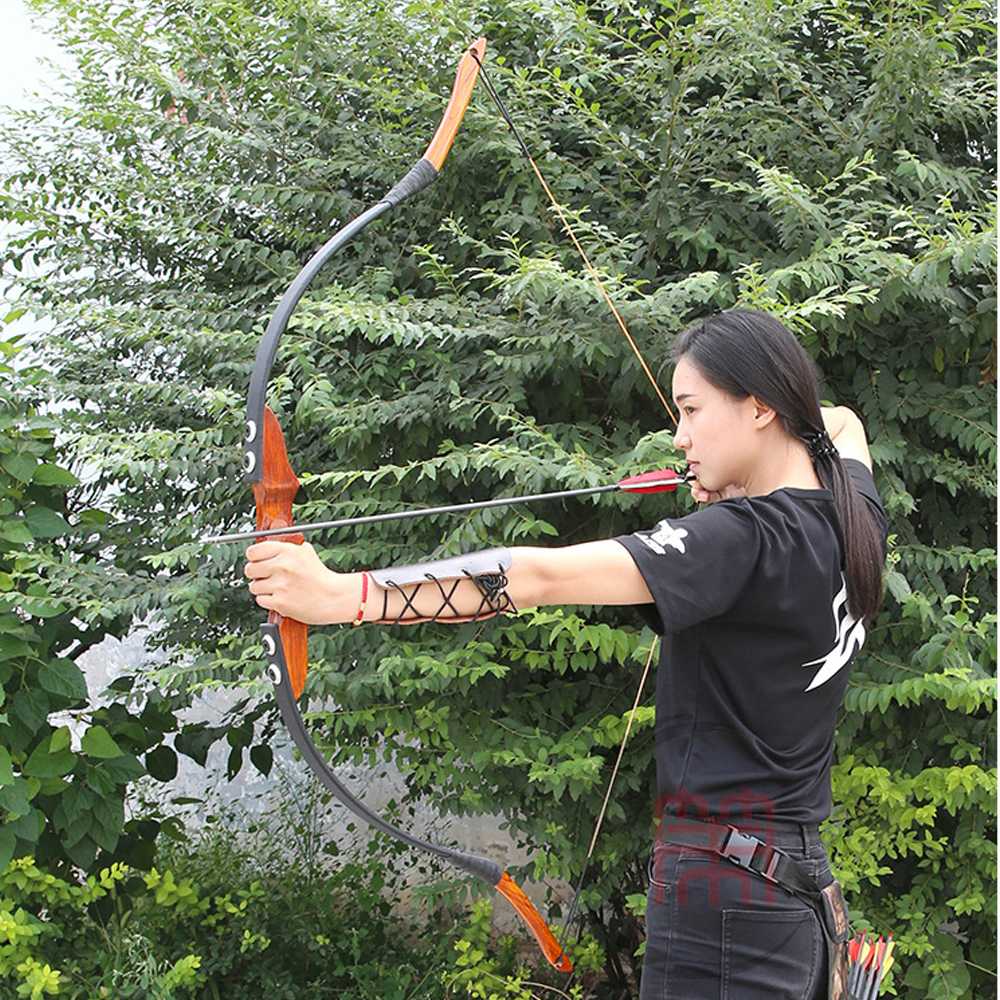 15 35 lbs Hunting Bow Wooden Recurve Bow American Archery Bow for Hunting Shooting Outdoor Sports