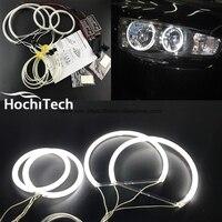 HochiTech WHITE 6000K CCFL Headlight Halo Angel Demon Eyes Kit angel eyes light For Mitsubishi Lancer 2008 2015 non projector