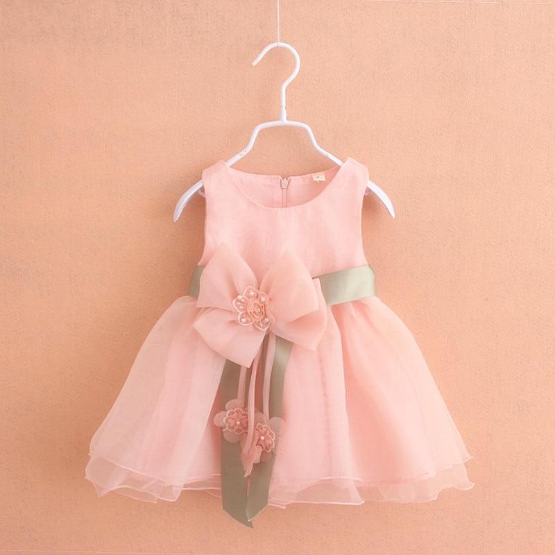 ⃝Nueva princesa caliente Vestidos de flores de niña rosa caliente ...