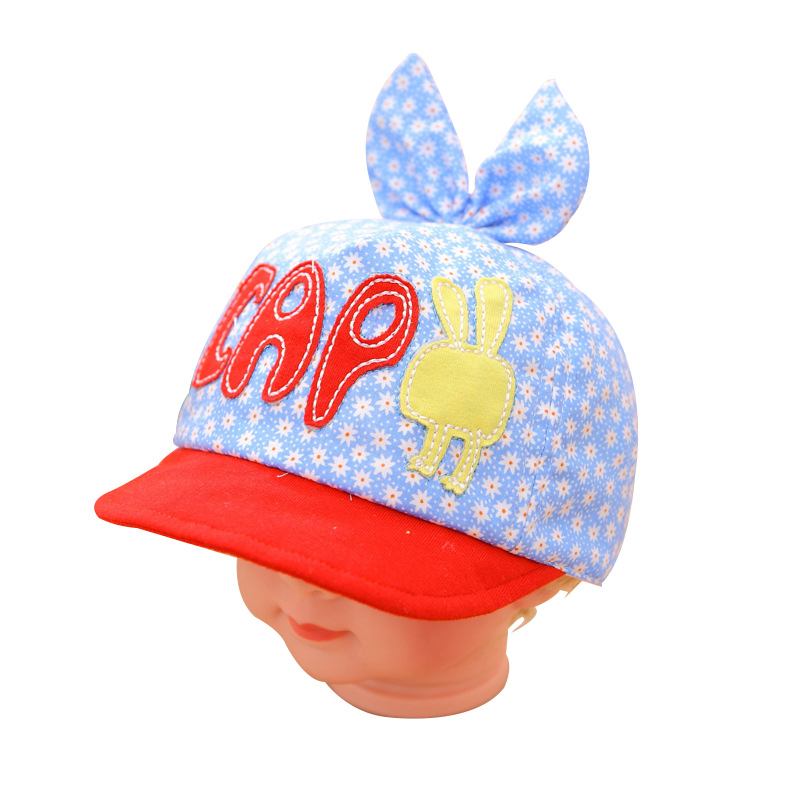 Flower Baby Hat Cotton Breathable Boy Girl Caps Spring Autumn Infant Beanie Baby Sun Cap With Ear Summer Baby Girls Clothing
