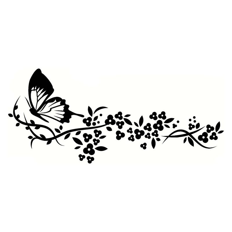 Pegatinas Decorativas Pared 29.2*12.9cm Flying Butterfly Decals Beautiful Pattern Car