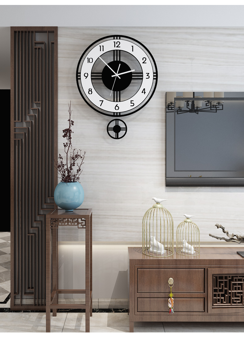 Acrylic pendulum modern design clock