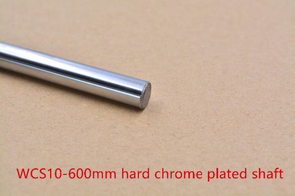 3D printer rod shaft 10mm linear shaft L 600mm chrome plated linear guide rail round rod shaft for cnc robot 1pcs