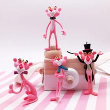 Cute Pink Panther Cartoon Keychain Vinyl Doll Car Bag Key Chain Ring Creative Birthday Gift