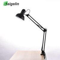 Kaigelin LED Folding Lamp Modern Office Table Lamp With Clip 110V 220V Power Charging E27 LED Light Bulbs Desk Lamp For Training