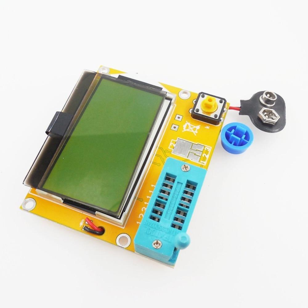 Portátil HW-308 ESR Metro Transistor Tester Digital 12864 pantalla LCD probador