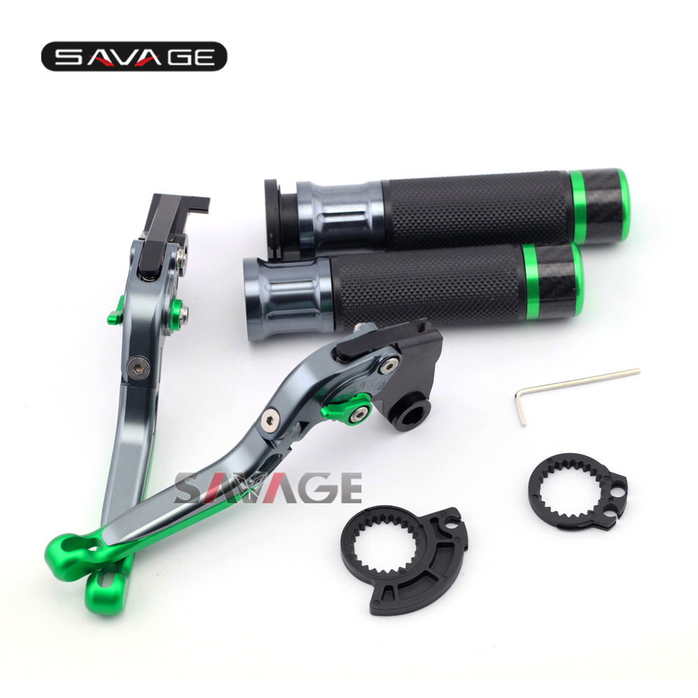 For KAWASAKI EX250R/NINJA 250/NINJA300/Z125/Z250/Z300 Motorcycle Adjustable Folding Brake Clutch Levers Handlebar Hand Grips