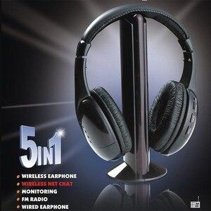 Image 5 - Auriculares MH2001 5 en 1, auriculares inalámbricos de alta fidelidad, TV/ordenador, Radio FM, auriculares con micrófono de alta calidad