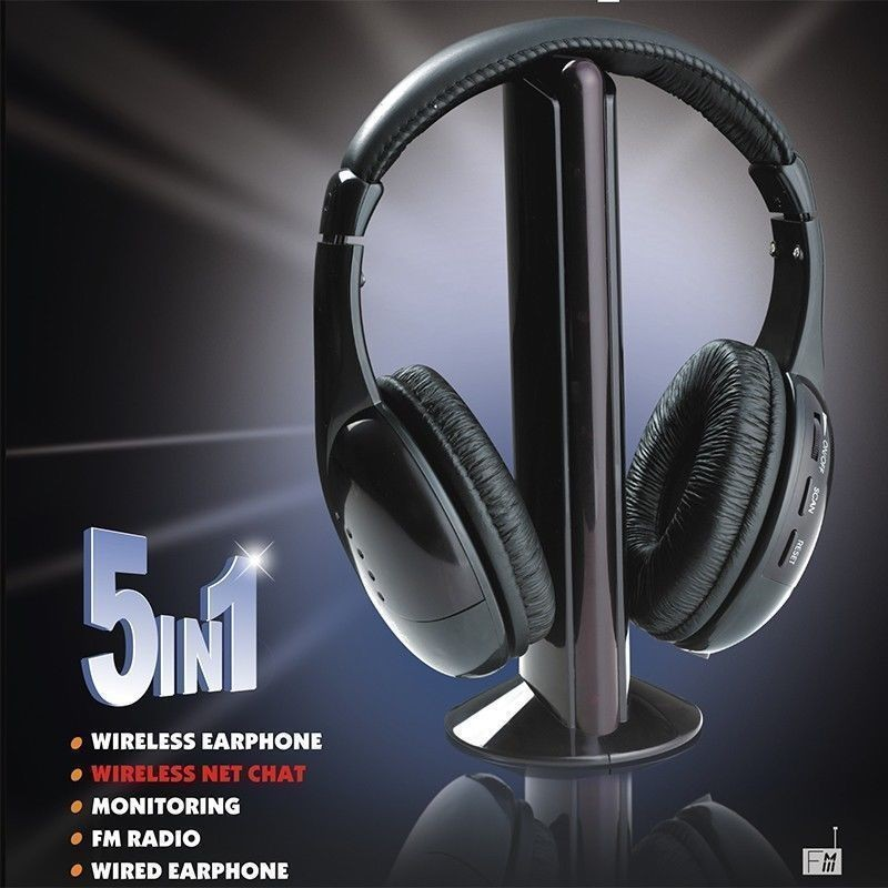 Image 5 - Headsets MH2001 5 in1 HIFI Wireless Headphones TV/Computer FM Radio Earphones High Quality with Microphone-in Headphone/Headset from Consumer Electronics