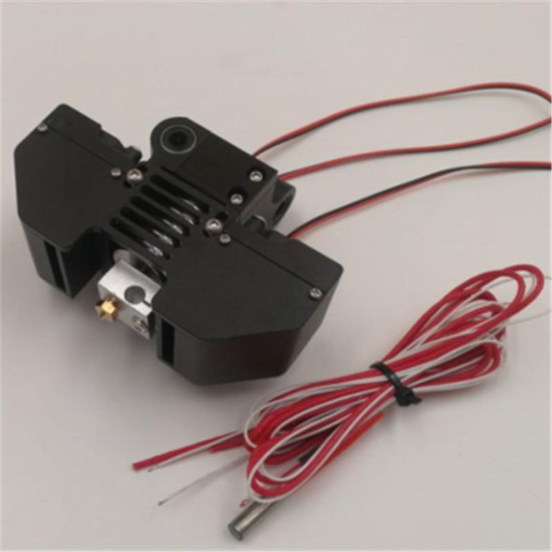 Blurolls  upgrade v6 hotend mount kit 0.4MM nozzle for Ultimaker2+ 3D printer all metal V6 print head extrusion kit