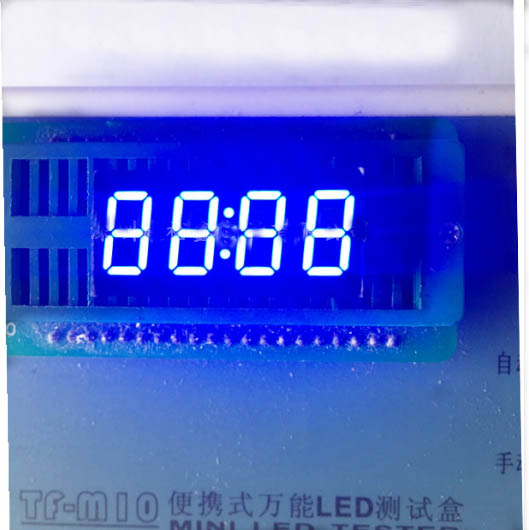 Общий анод/общий катод 0.36 дюймов цифровые часы трубки 4 биты цифровой пробки светодиодным дисплеем 0.36 дюйма синий цифровой трубки