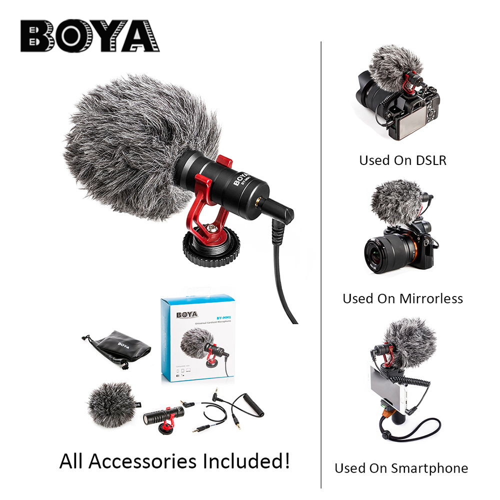 BOYA BY-MM1 DSLR MIC Video camera Microphone Youtube Blogging Recording Mic for Canon Nikon Sony iPhone HuaWei Smartphone Osmo susannah gardner blogging for dummies