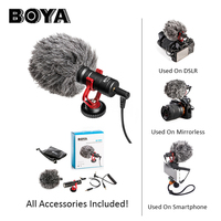 BOYA BY MM1 DSLR MIC Video camera Microphone Youtube Blogging Recording Mic for Canon Nikon Sony iPhone HuaWei Smartphone Osmo