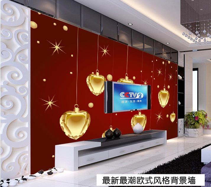 ΞPersonalizado 3D foto papel pintado mural continental Navidad tonos ...