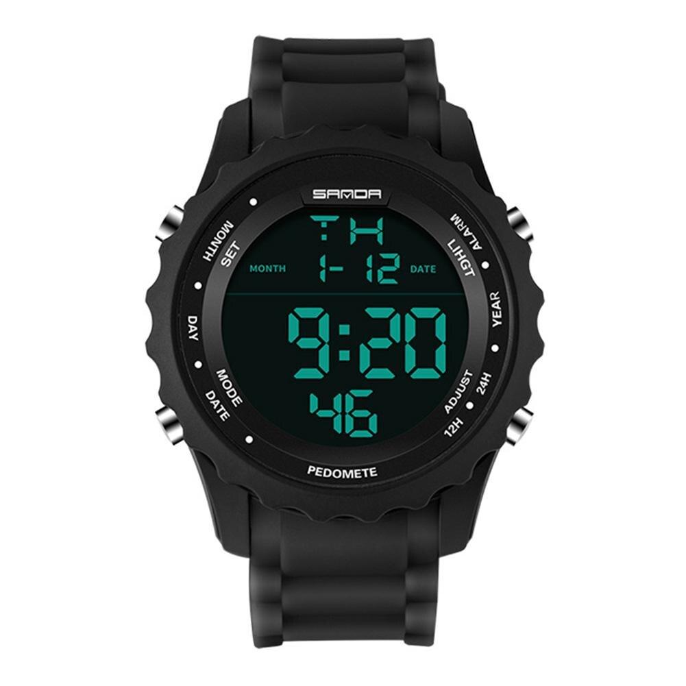 LinTimes hombres deportes relojes de lujo militar ejército reloj Digital LED electrónico relojes impermeables