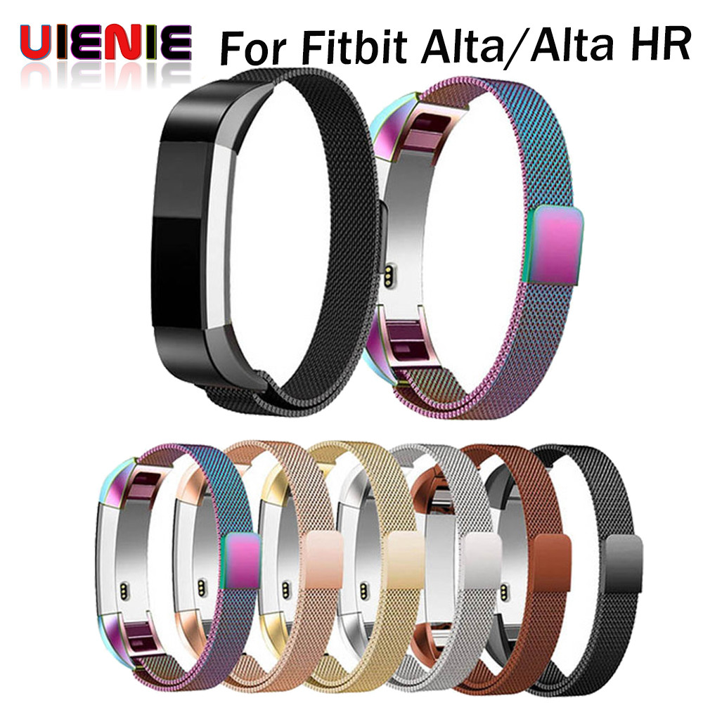 купить Magnetic Closure Bracelet Milanese Strap Watch Band For Fitbit Alta Band for FitBit Alta HR Replacement Wristband Accessories по цене 331.58 рублей