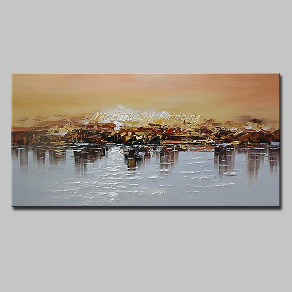 Mintura Art Большой размер Ручная роспись абстрактный пейзаж картина маслом на холсте современный настенный Декор картина для гостиной без рамы - Цвет: MT161282