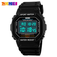 SKMEI Brand Retro Square LED Digital Watch Mens Women Military Waterproof Wristwatches Outdoor Sports Watches Clock Relogio 1134