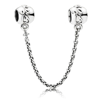 Top Quality Authentic 925 Sterling Silver Family Ties Safety Chain Bead Charm Fit Pandora Bracelet Bangle