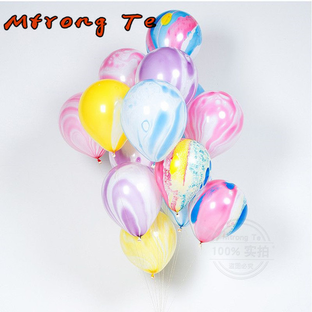 Mtrong Te 50pcs Rainbow Latex Balloons Birthday Party Decorations Baby Boy Girl Gift Toys Lovely Colored