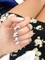 24pcs/lot Metallic False Nails Fashion Stiletto Tips Ongles Fake Nails Sex Full French Nail Tips etagere