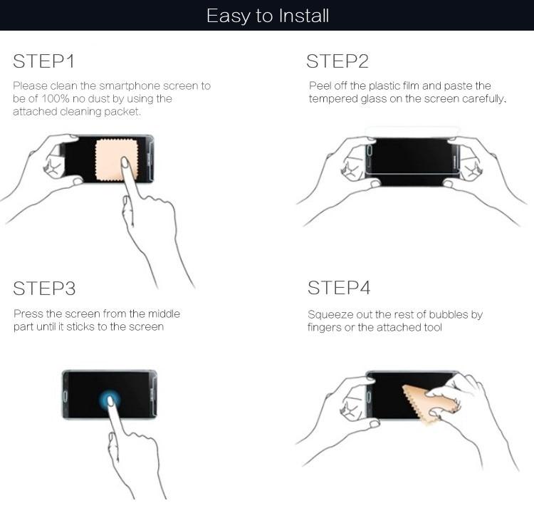 For Tempered Glass Motorola Moto M Էկրանի պաշտպանիչ - Բջջային հեռախոսի պարագաներ և պահեստամասեր - Լուսանկար 6