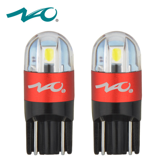 NAO 2x w5w car led t10 w5w bulb led t10 led auto lights interior auto 3030 12V automobiles signal lamp 168 194 clearance lights