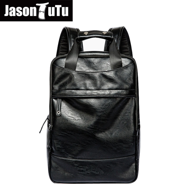 laptop backpack men Multifunction vintage kanken backpacks waterproof black PU leather backpack teenage mochila masculina B631laptop backpack men Multifunction vintage kanken backpacks waterproof black PU leather backpack teenage mochila masculina B631