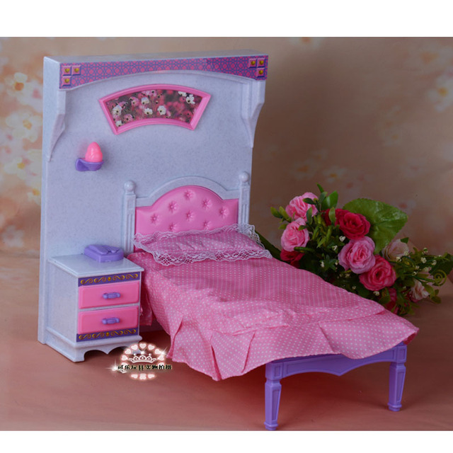 For Barbie Doll Furniture Accessories Plastic Toy Pink Dream