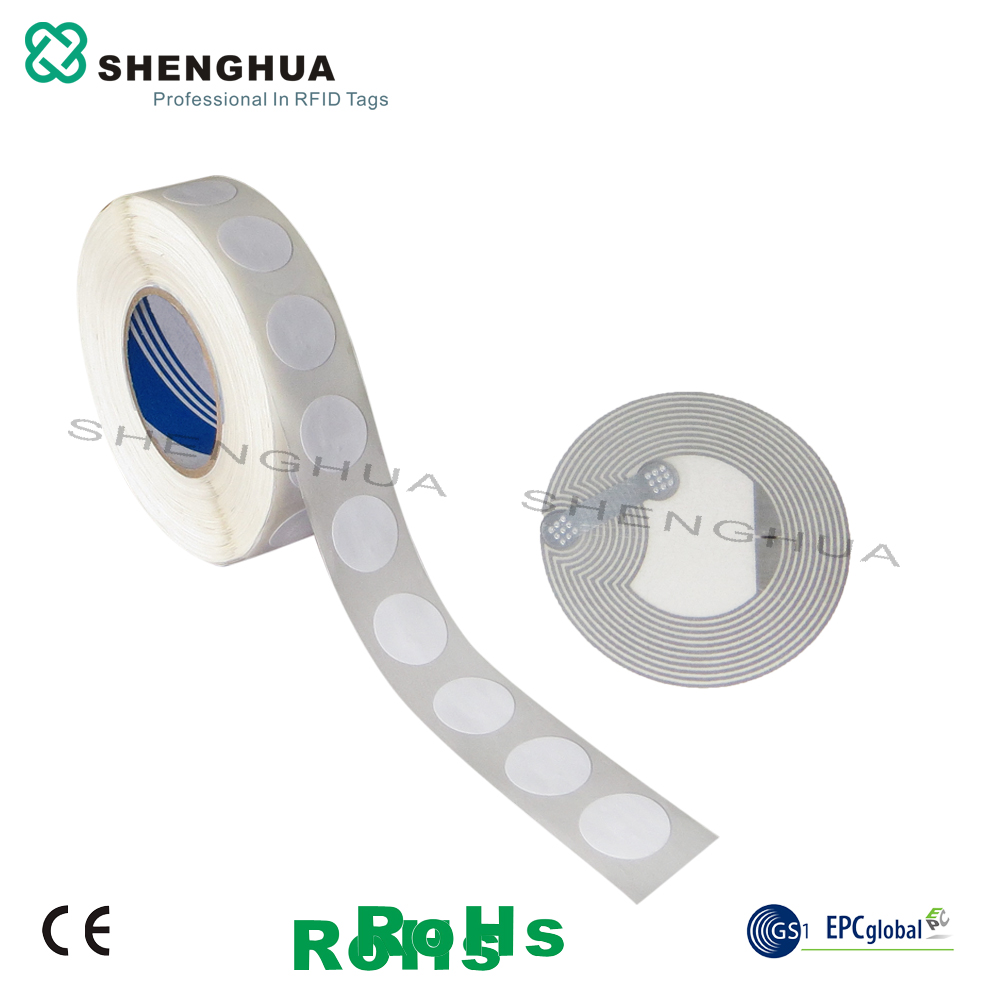 10pcs/lot 13.56mhz Passive Smart Contactless Nfc Tag Rfid Label Round 213 Wet Inlay Transportation System Tick