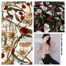 d89ddae8c23ef Buy 2017 floral chiffon fabric and get free shipping on AliExpress.com