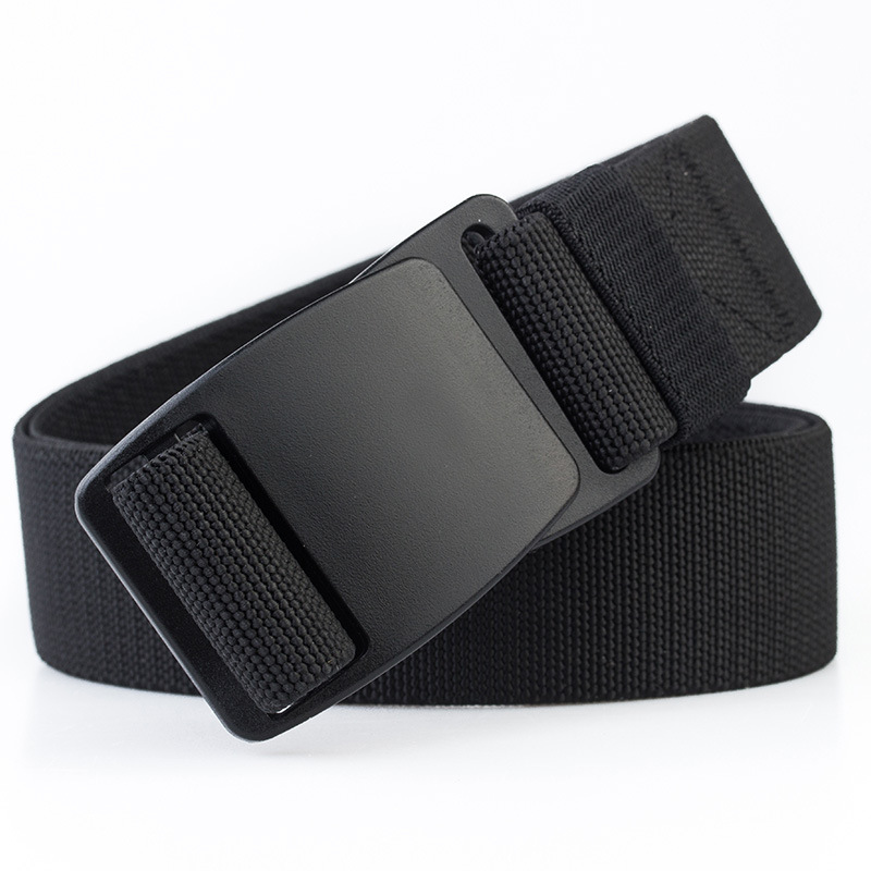 Tactical Men's Elastic Belt Black Plastic Buckle Army Military Adjustable Outdoor Waistband Plastic Fastener Leisure Belts Blue
