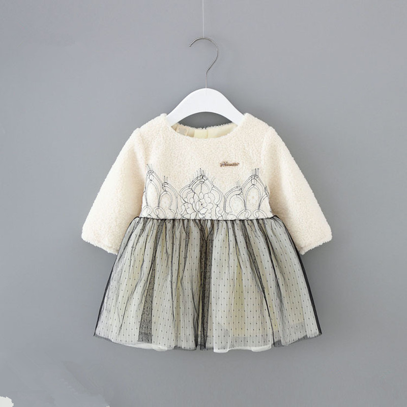 Girl Winter Dress 2018 New Fall Brand Baby Dresses Infant Party Dress For Girls Clothes Newborns Baby Girl 1st Birthday Dress wholessale children 2016 fashion style new arrival es winter party clothes brand es baby girl clothes pattern new nice hot