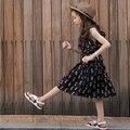 Девушки Платья Лето 2017 хлопок платье принцессы цветочные Корейской версии детская одежда моды девушка одежда