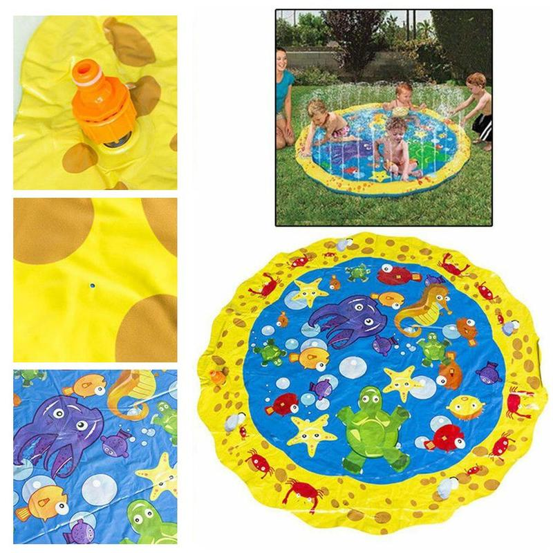 Children's Play Beach Toys Summer Children's Outdoor Water Spray Mat Lawn Beach Game Sprinkler Cushion Diameter 100cm