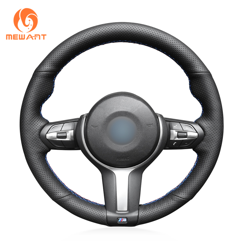 MEWANT Black Suede Car Steering Wheel Cover for BMW F87 M2 F80 M3 F82 M4 M5 F12 F13 M6 F85 X5 M F86 X6 M F33 F30 M Sport car styling m carbon fiber leather pu steering wheel cover for bmw x1 x2 x3 x4 x5 x6 m1 m2 m3 m4 m5 m6 m7 series