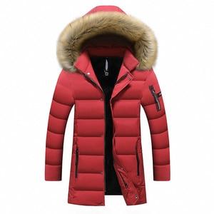 Image 3 - New Winter Mens Parkas Coats 웜 자켓 캐주얼 파카 남성 롱 자켓 캐주얼 슬림 피트 후드 의류 대형 5XL 6XL