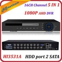 HD 16CH 1080P CCTV DVR Hi3531A HVR XVR For AHD CVBS CVI TVI IPC Camera NEW