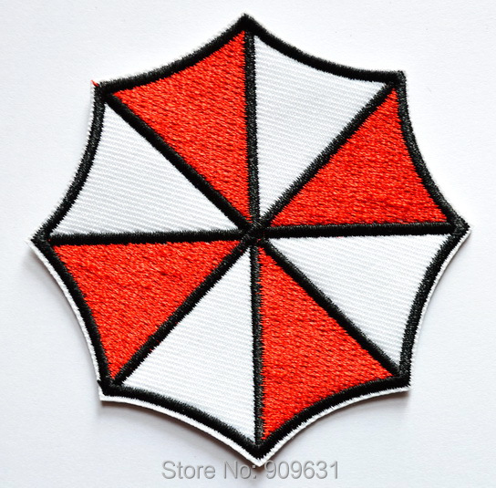 Resident Evil Umbrella Corporation Logo Iron On Patch Made Of