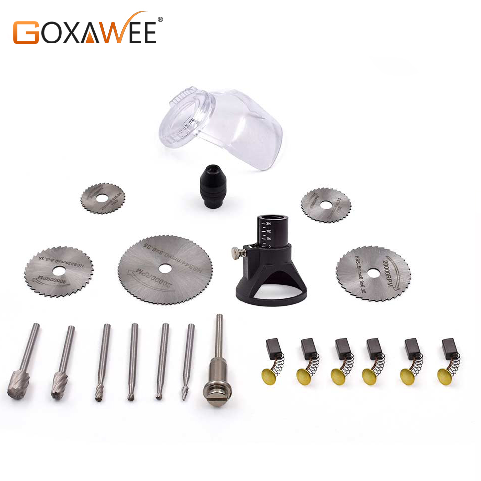 GOXAWEE 21pcs Rotary Tools For Dremel Style Electric Drill Woodworking Drill Bit Sets Cutting Grinding Abrasive Accessories